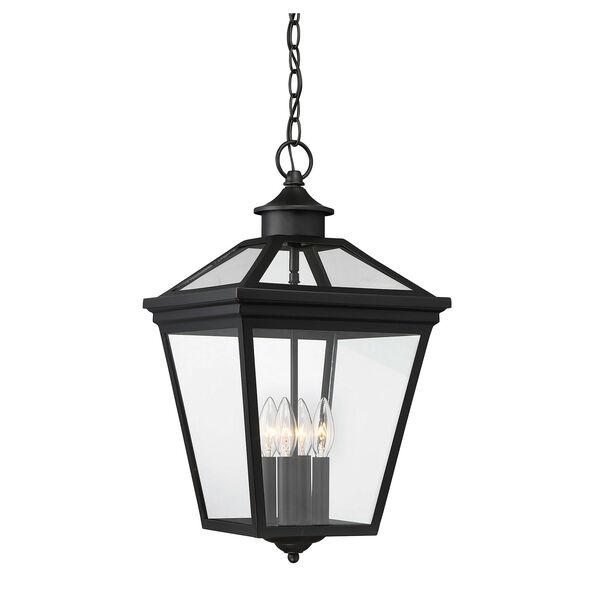 Ellijay Black Four-Light Outdoor Pendant, image 2