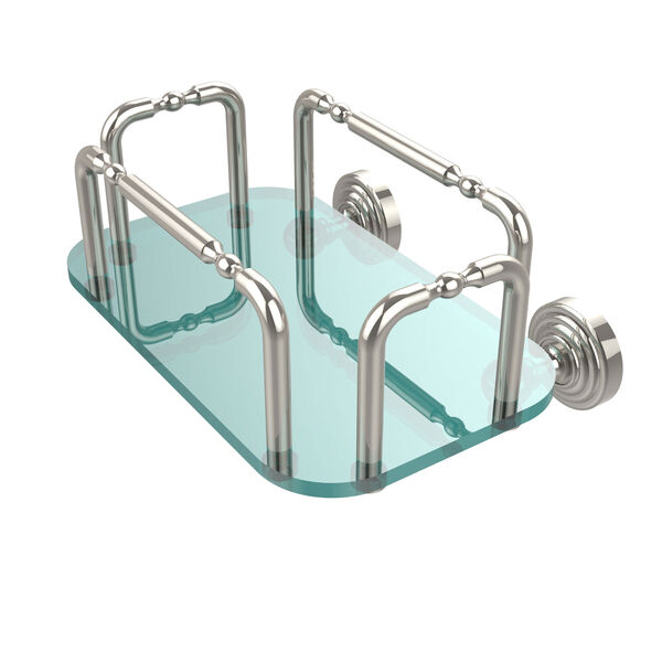 Waverly Place Wall Mounted Guest Towel Holder, Polished Nickel, image 1