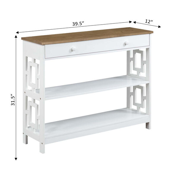 Town Square Driftwood White Accent Console Table, image 6
