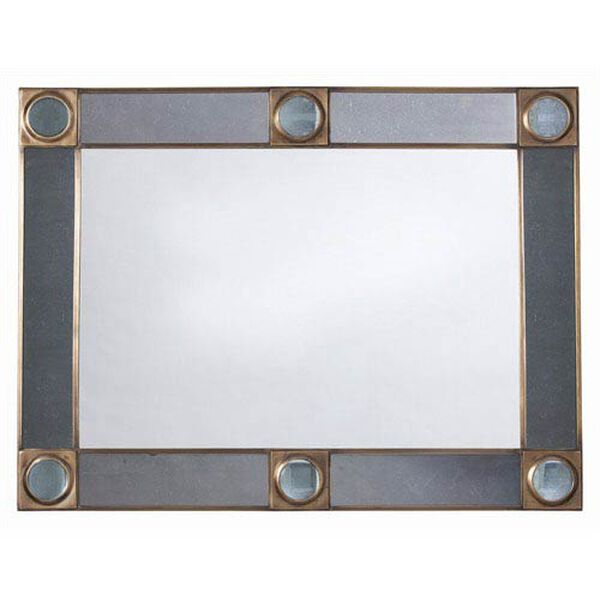 Baldwin Antique Brass and Glass Mirror, image 2