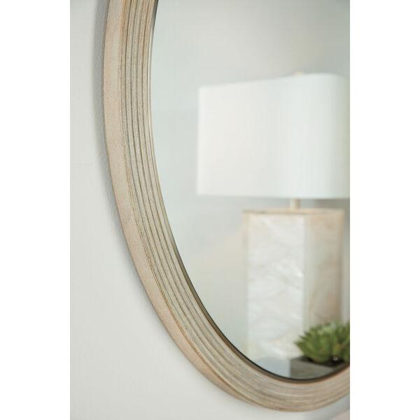 Cascade Taupe Round Mirror, image 3