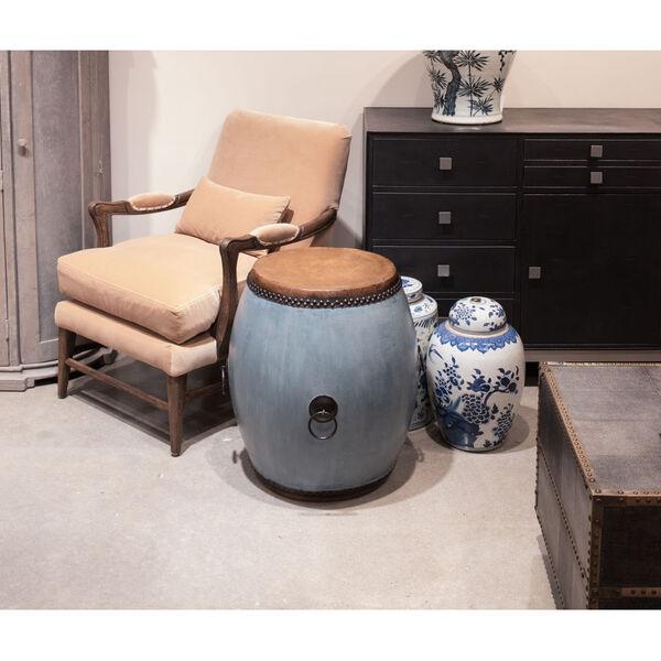 Blue Drum End Table, image 5