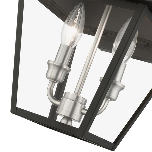 Mansfield Black Two-Light Outdoor Wall Lantern, image 6