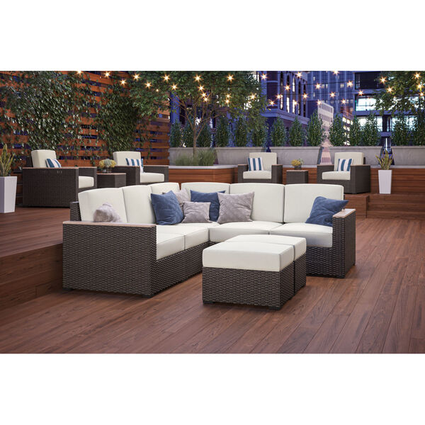 Palm Springs Brown Patio Five-Seat Sectional, image 2