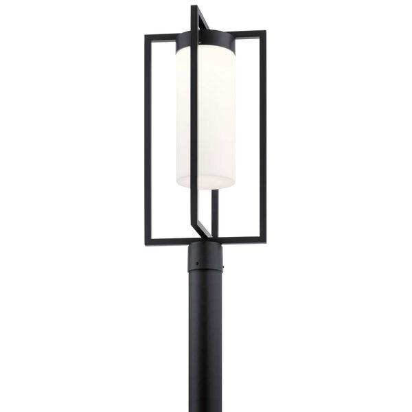 Drega Black LED Outdoor Post Lantern, image 1