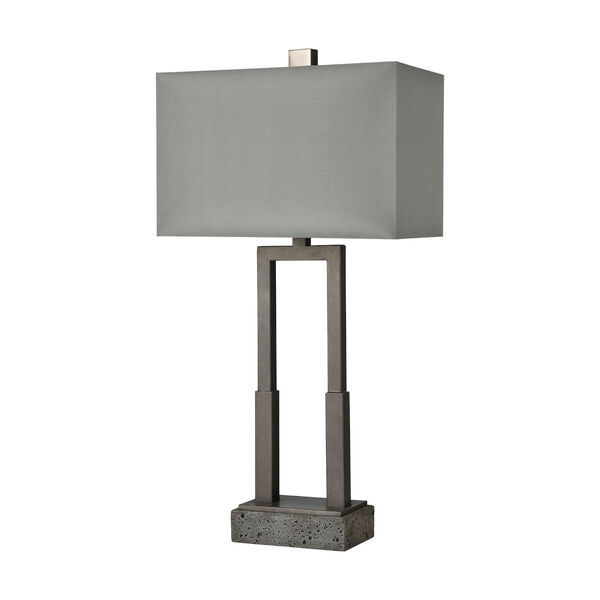 Courier Pewter and Rough Concrete One-Light Table Lamp, image 2