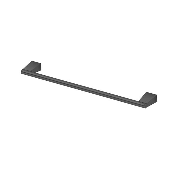 Bleu Matte Black 18-Inch Towel Bar, image 1