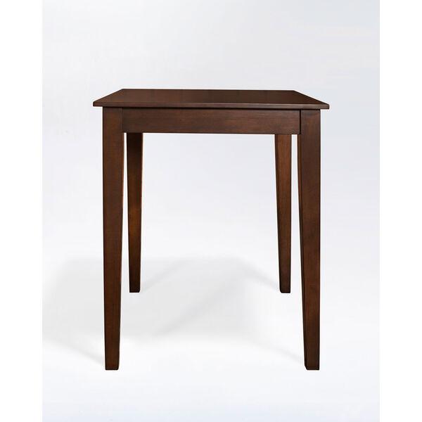 Tapered Leg Pub Table in Vintage Mahogany Finish, image 2