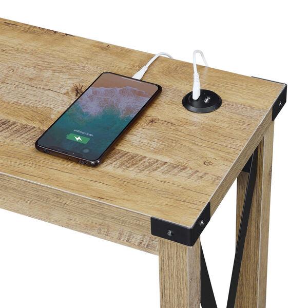 Durango English Oak Black Accent Console Table, image 4
