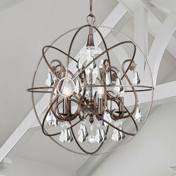 Solaris Five-Light English Bronze Chandelier, image 6