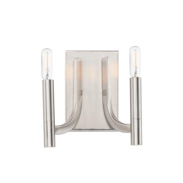 Lyndon Satin Nickel Two-Light Bath Vanity, image 1