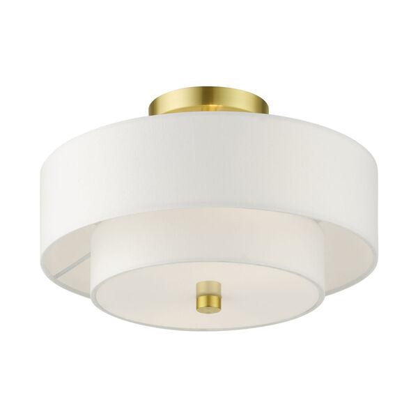 Meridian Satin Brass Two-Light Semi-Flush Mount, image 3