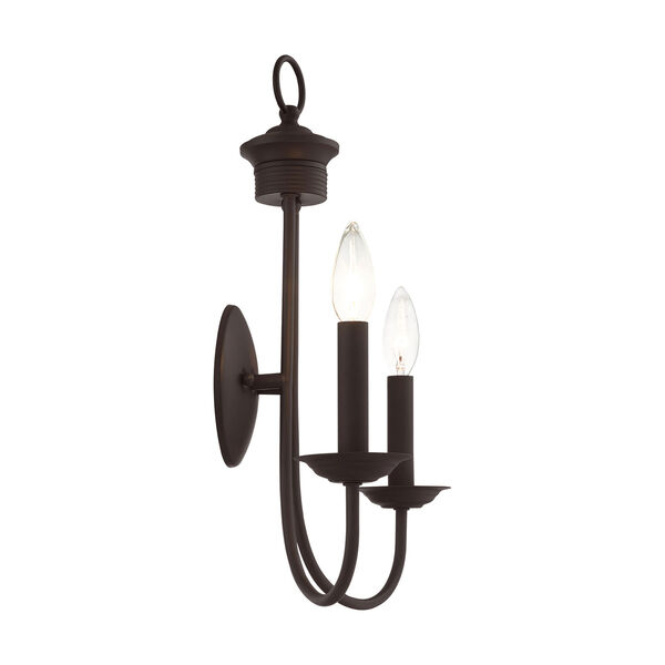 Estate Bronze Two-Light Wall Sconce, image 5