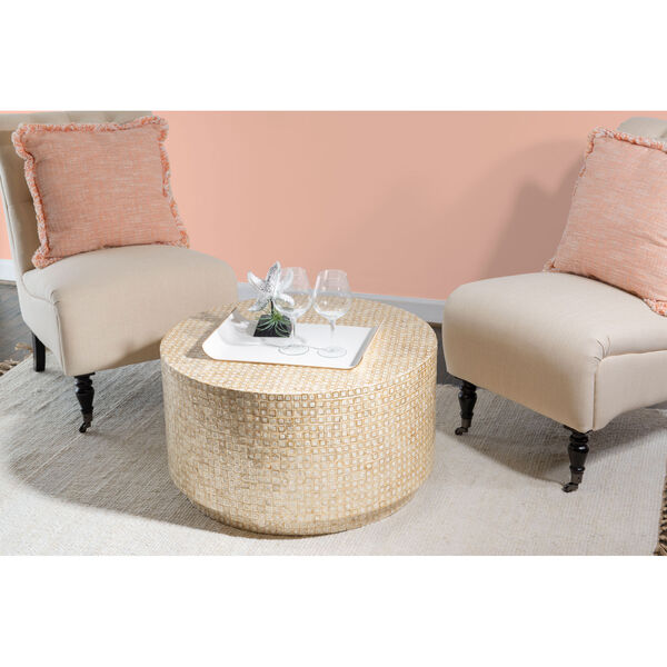 Magana Gold and Ivory Coffee Table, image 5