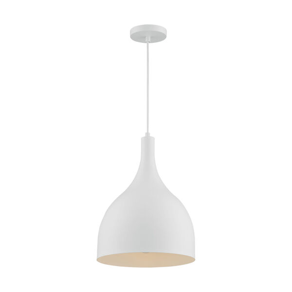 Bellcap Matte White 16-Inch One-Light Pendant, image 4