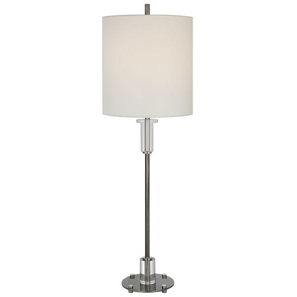 Aurelia Polished Nickel One-Light Buffet Lamp, image 1