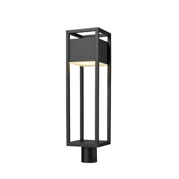Barwick Black 27-Inch One-Light LED Outdoor Post Mount, image 1