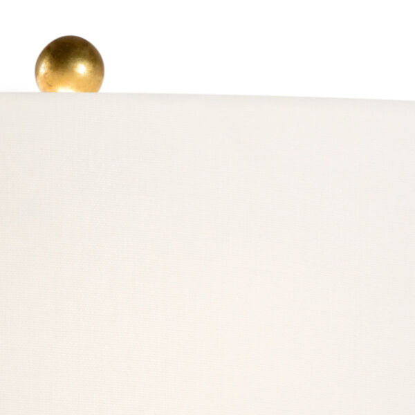 Artistic Antique Gold and White One-Light Table Lamp, image 3