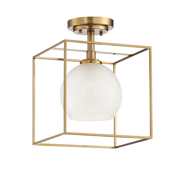 Cowen Brushed Gold One-Light Semi-Flush, image 2