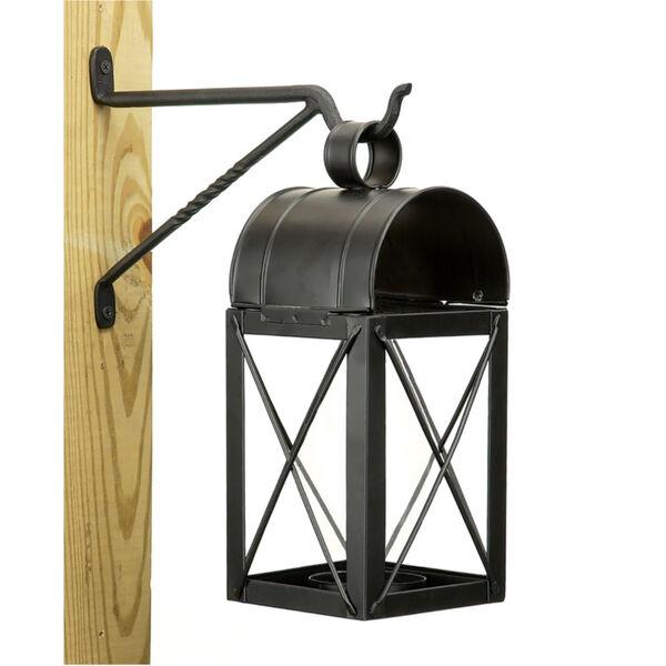 Black Powdercoat Lantern Wall Bracket, Set of Two, image 3