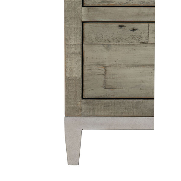 Glazed Silver and Brown 26-Inch Loft Shaw Nightstand, image 4