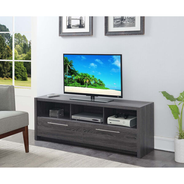 Newport Weathered Gray MDF 60-Inch Marbella TV Stand, image 3