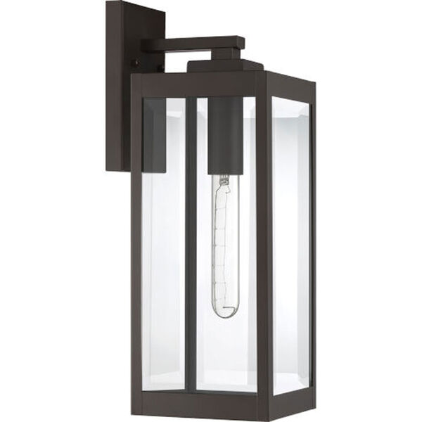 Pax Bronze 17-Inch One-Light Outdoor Lantern with Beveled Glass, image 3