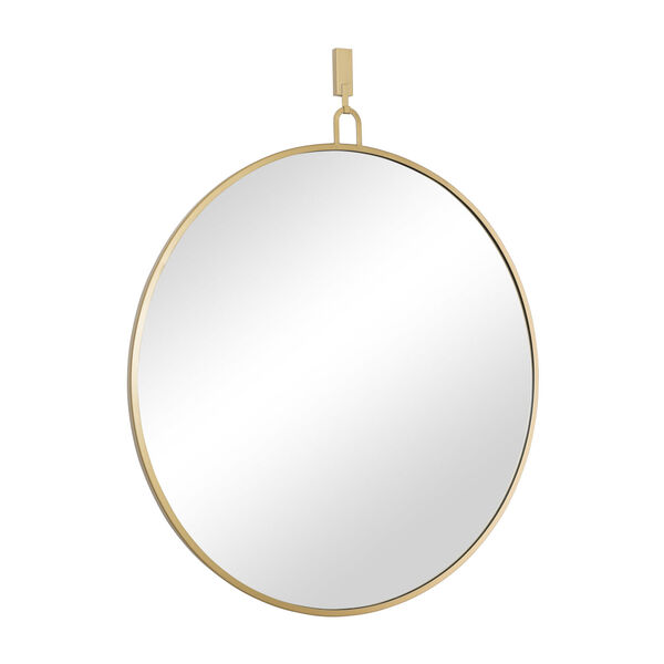 Stopwatch Gold Round Accent Mirror, image 2