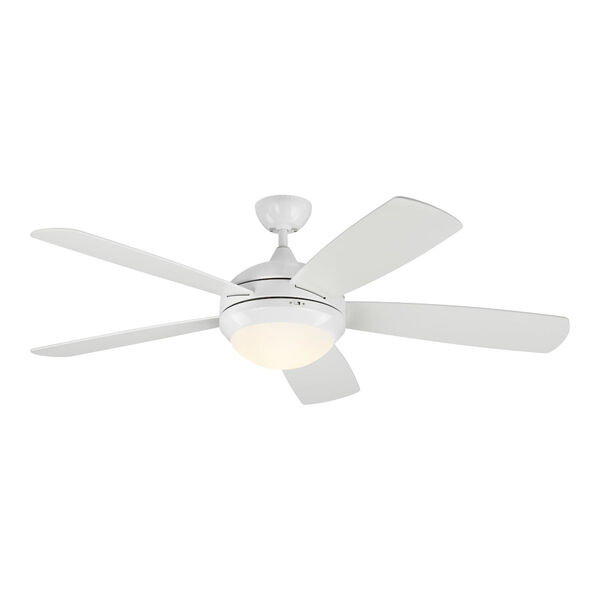 Discus Matte White 52-Inch DC Energy Star LED Smart Ceiling Fan, image 1