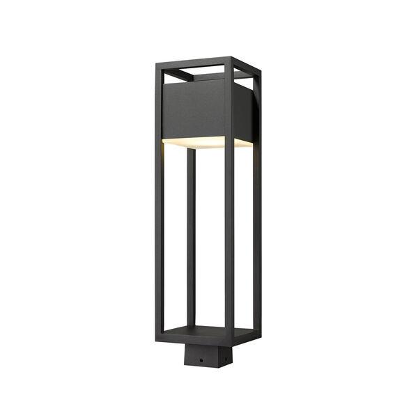 Barwick Black 26-Inch One-Light LED Outdoor Post Mount, image 1