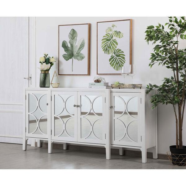 Modern White 72-Inch Sideboard, image 3