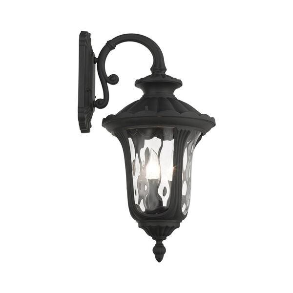 Oxford Textured Black 11-Inch Three-Light Outdoor Down Light Wall Lantern, image 5