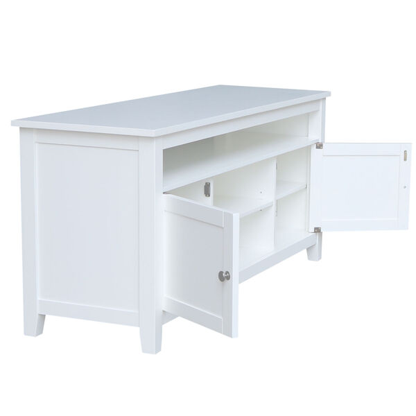 White 57-Inch TV Stand with Two Door, image 4