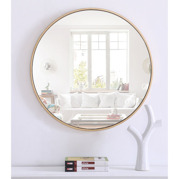 Eternity Round Mirror with Metal Frame, image 2