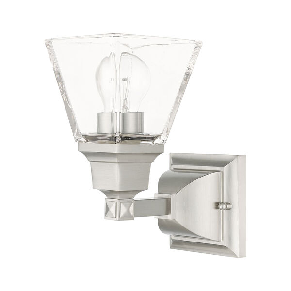 Mission Brushed Nickel One-Light Wall Sconce, image 2
