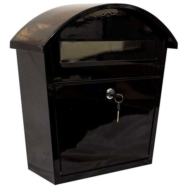 Ridgeline Locking Mailbox in Black, image 1