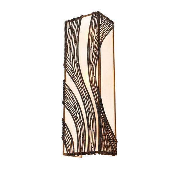 Flow Hammered Ore Three Light Wall Sconce, image 1