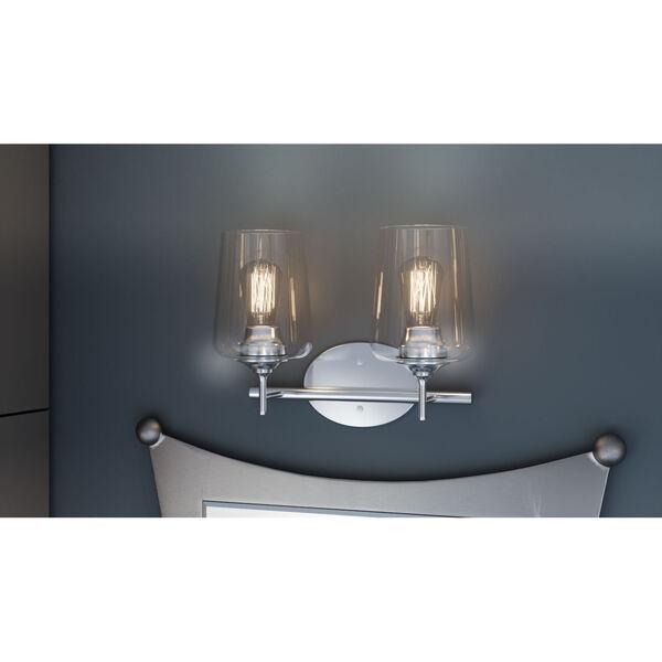 Miller Polished Chrome Two-Light Bath Vanity, image 2