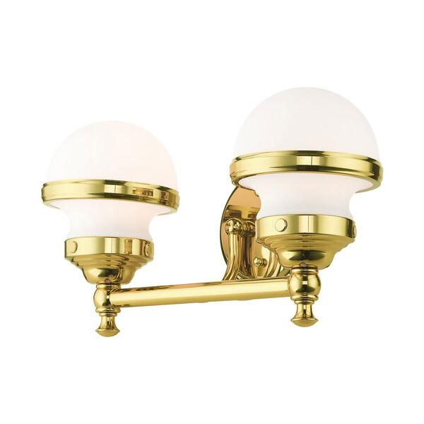 Oldwick Polished Brass Two-Light Bath Vanity, image 6