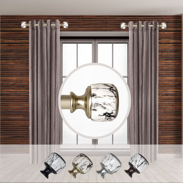 Josephine Gold Side Curtain Rod, Set of Two, image 2