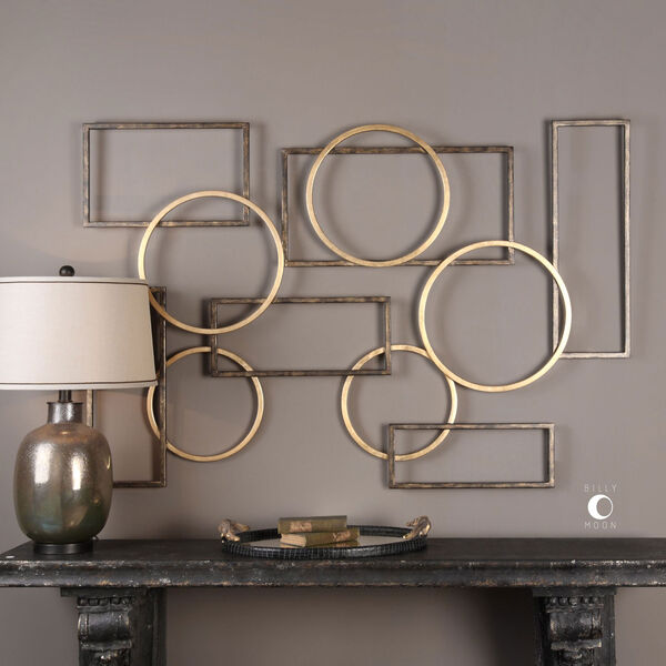 Elias Bronze And Gold Wall Art, image 1