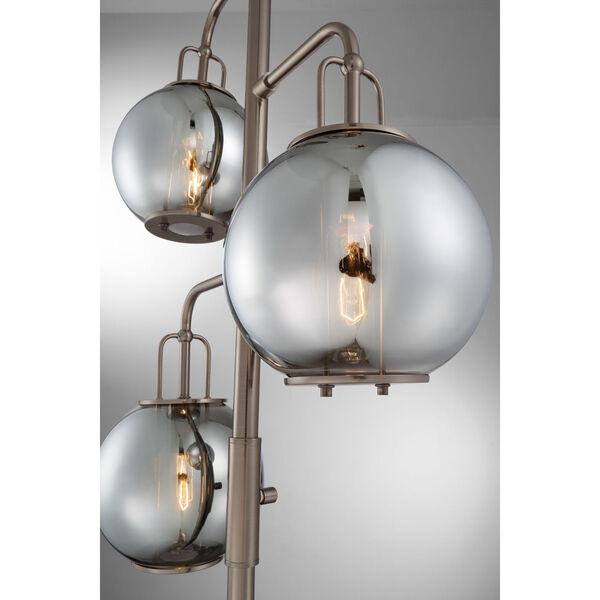 Kaira Gun Metal Three-Light Floor Lamp, image 2
