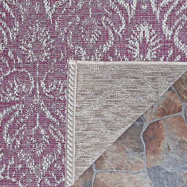 Marseille Cassis Plum Rectangular: 5 Ft. 3 In. x 7 Ft. 6 In. Indoor/Outdoor Rug, image 2
