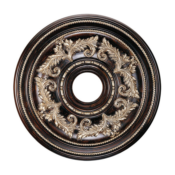 Hand Rubbed Bronze Ceiling Medallion, image 1