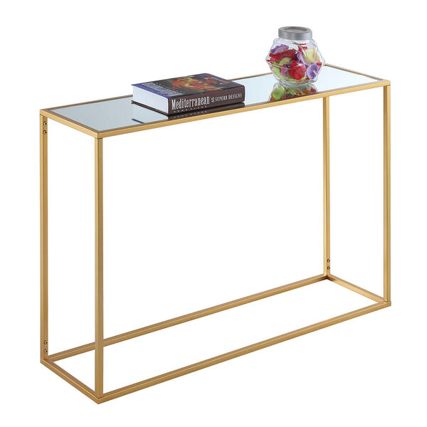 Gold Coast Gold 11-Inch Mirrored Console Table, image 2