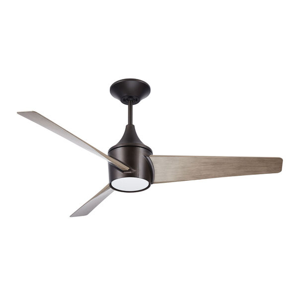 Riptide Oil Rubbed Bronze 52-Inch LED Indoor Outdoor Ceiling Fan, image 1