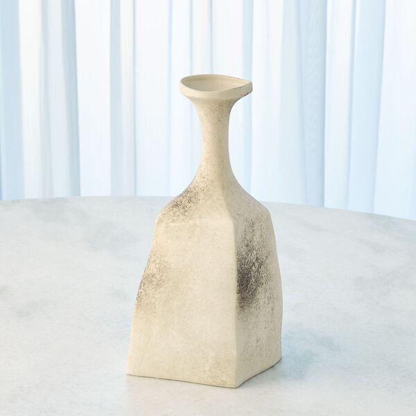 Matte Cream 5-Inch Rhombus Marble Vase, image 3
