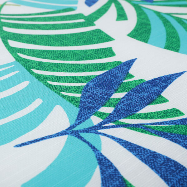 Islamorada Blue and Green 52-Inch Tufted Bench CUshion, image 4