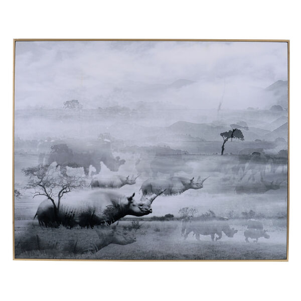 Foggy White And Black Waterscape Wall Art With Frame, image 1