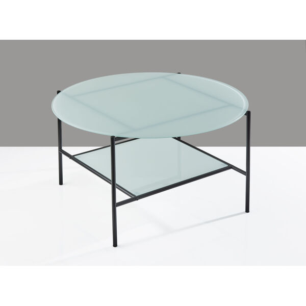 Stephen Black and White Two-Tiered Coffee Table, image 3